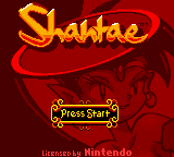 Shantae Start-Screen